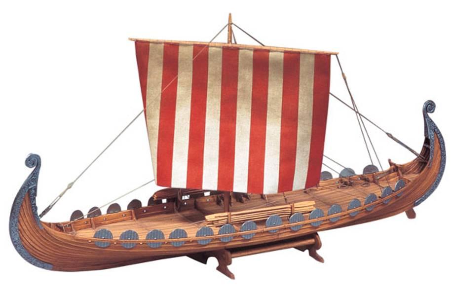 Oseberg vikingskip. 860 mm. 1:50