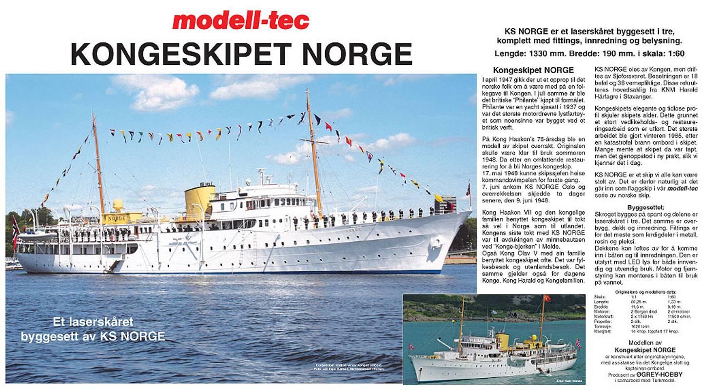 Kongeskipet NORGE, KS NORGE